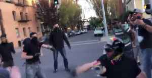 Far-Right Group and Anti-Fascists Clash on Portland Street [Video]
