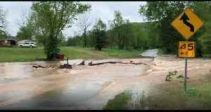 Roads Damaged Amid Flooding in Missouri [Video]