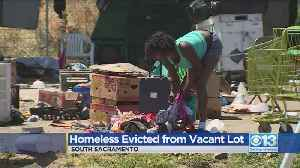Homeless Evicted From Vacant Lot [Video]