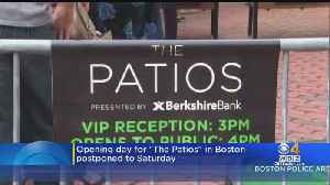 'The Patios' Opening At Boston's City Hall Plaza Delayed 2 Days [Video]