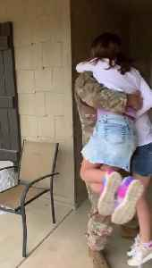Girls Get Double Surprise With Brother and Military Dad Coming Home [Video]