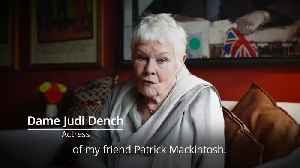 Dame Judi Dench gives charity cyclist a lucky charm [Video]
