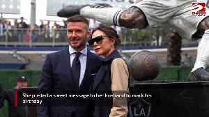 Victoria Beckham's birthday tribute to husband David [Video]