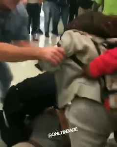 WEB EXTRA: Homestead High Student Kicks Officer In Head During School Fight [Video]
