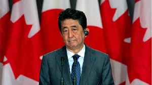 Japanese Prime Minister Shinzo Abe Brought A Door Knocker Back From Canada [Video]