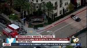 Police search for suspects in College Area shooting [Video]