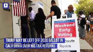 Trump May be Left Off 2020 Ballot in California Over His Tax Returns [Video]
