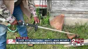 Thief steals Hominy man's lawn mower [Video]