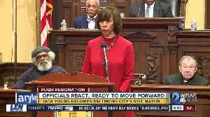 Baltimore City leaders react to Catherine Pugh's resignation, Jack Young now Mayor [Video]