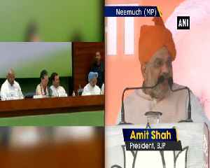 Even Sonia Gandhi is unaware of Rahul Gandhis foreign visits Amit Shah [Video]