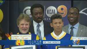 Our Jim Hill Helps Honor LAUSD Student, Teacher Of The Month [Video]