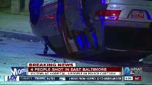 4 hurt in shooting, 2 injured in crash, 3 suspects arrested in East Baltimore [Video]