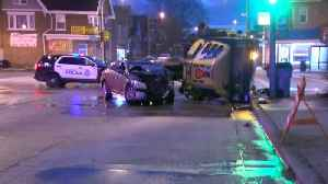 Two injured after car, street sweeper collide in Milwaukee [Video]