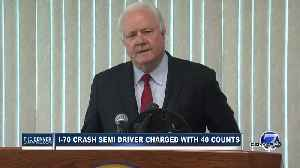 Full news conference: Prosecutors announce 40 counts against driver in deadly I-70 crash, fire [Video]