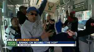 Bucks fans on board The Hop are just a little excited for Friday night's Game 3 [Video]