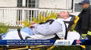 Man accused in airport security breach taken from home on stretcher [Video]