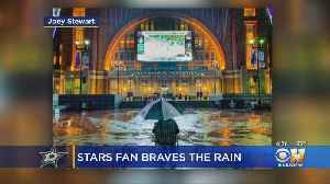 Dallas Stars Fan Who Watched Game 4 In The Rain Gains Fame, Tickets [Video]