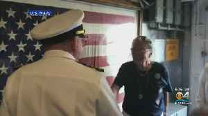 WWII Navy Veteran Gets Special Tour Of Guided Missile Cruiser [Video]