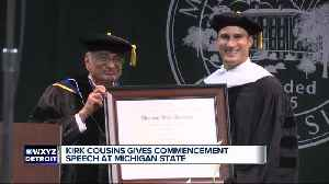 Kirk Cousins gives commencement speech at Michigan State [Video]