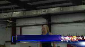 Local Gymnast Fights Off Back Problems [Video]