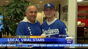 Orland father and son duo catch Dodger's foul ball [Video]