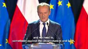 European Council President Donald Tusk tells Europe to stick together [Video]
