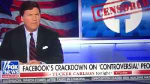 Tucker Carlson responds to FB banning conservatives [Video]
