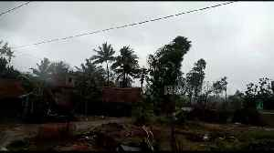 High winds from Cyclone Fani cause havoc in eastern Indian village [Video]