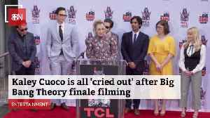 Kaley Cuoco Gets Emotional At The End Of Her Show [Video]