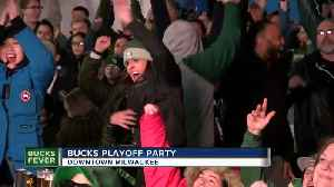 Bucks fans celebrate a victory in Game 3 [Video]