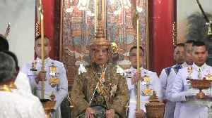 News video: Watch: Thailand's King Maha Vajiralongkorn is crowned on the first day of coronation rites