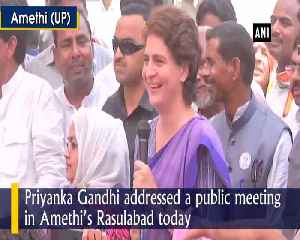 Priyanka Gandhi accuses BJP of bribing pradhan in UPs Amethi [Video]