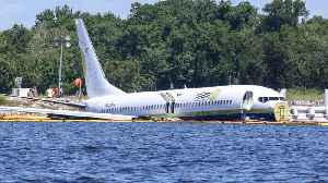 Boeing Jet Skids Off Runway Into River In Florida