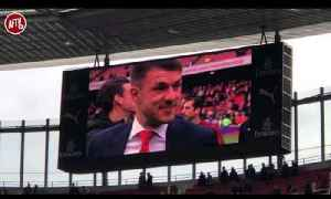 Arsenal Players Lap Of Honour & Aaron Ramsey And Cech Farewell! [Video]