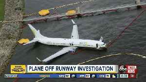 The latest: Plane skids off runway into St. Johns River [Video]