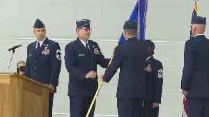 The change of command ceremony for the 124th Fighter Wing [Video]