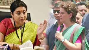 Priyanka Gandhi now takes my name more than her husband's: Smriti Irani | Oneindia News [Video]