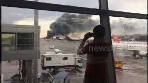 Huge plumes of smoke rise into air from deadly Moscow plane fire [Video]