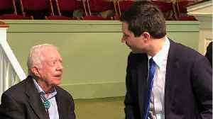Pete Buttigieg Attends Former President Jimmy Carter's Sunday School Class [Video]