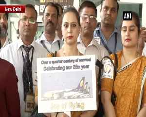 Jet Airways employeed commemorate 26th anniversary of airline at Delhi Airport [Video]