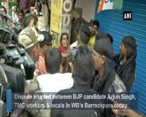 Conflict erupts between BJP candidate Arjun Singh TMC workers [Video]