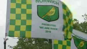 Norwich promotion party gets underway [Video]