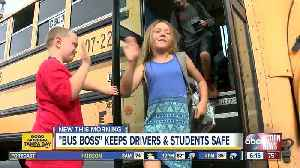7-year-old 'Buss Boss' at elementary school helps keep students and bus drivers safe [Video]