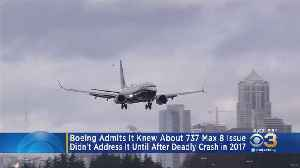 Boeing Admits It Knew About 737 Max 8 Issue Before Deadly Crash [Video]