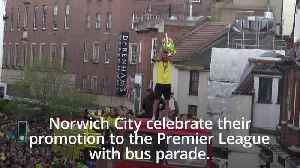 Norwich celebrate Championship title: Thousands party in the city's streets [Video]