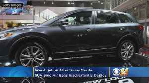 Investigation After Some Mazda SUV Side Air Bags Inadvertently Deploy [Video]