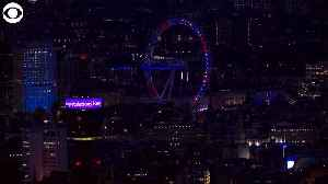 WEB EXTRA: London Skyline Lit Up For Royal Baby [Video]