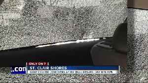 Golf ball strikes SUV with kids inside, shattering window in St. Clair Shores [Video]