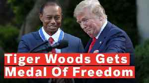 Tiger Woods Receives Standing Ovation After President Trump Awards Him Medal Of Freedom [Video]