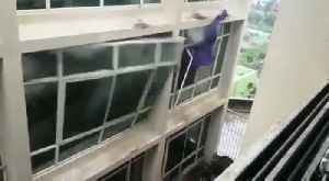 Cyclone Fani rips through windows of university campus in India [Video]